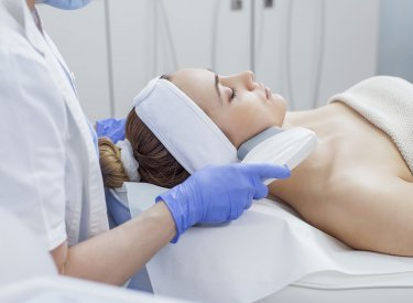 Woman having skin therapy
